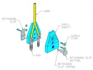 German Body Cord 2 Pin Plug