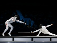 Women's Team Epee final between China and Korea at the 2012 London Olympics.  Photo: S.Timacheff/FencingPhotos.com
